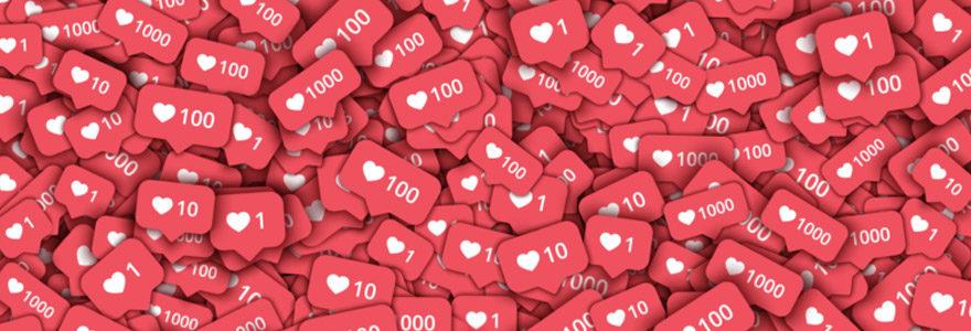 likes sur les réseaux sociaux
